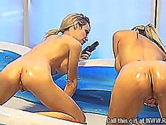Chessie Kay and Jessica Lloyd, Baby Oil Pool.
