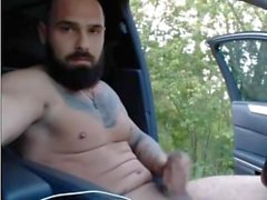 Ukrainian Bearded Tattooed Hunk ( Jerk Off & Cum )
