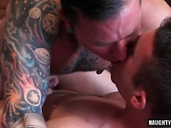 Big cock gay hardcore anal sex and cumshot