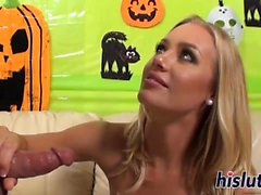 Hot blonde has her hirsute beaver drilled