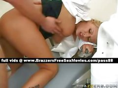 Superb busty blonde dentist gets fucked hard
