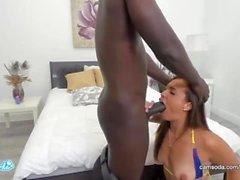 Kelsi Monroe interracial taking a big black dick live on Camsoda