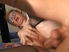 granny old woman fucked by young guy man anal