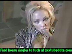 Classic MILF Houston sucking cock!