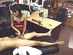 amateur asiático mamada peludo paja