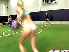 Double blowjobs and group fuck in dodgeball f