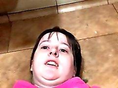 Sabrina Renegade Bathroom Floor Anal and Clit Play