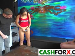 Sexy girls sucke cock in a shope