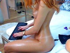 Redhead Pornstar Milf Choking on Dick