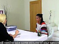 dilettante biondo brunetta colata