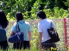 asiático fetiche hd japonês ao ar livre