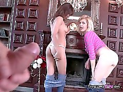 Horny Chicks Get Freaky With Hung Landlord