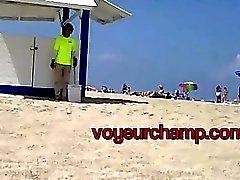 voyeurchamp #Exhibitionist Wife Nikki Brazil Beach Tease