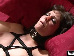 bdsm pipe brunette fétiche