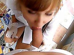 Gloves White Latex desert angel nurse 115 [tropical balcony,