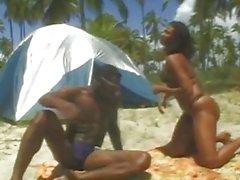 Hevenly Ebony Fuck As The Beach