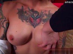 Hot ex girlfriend cum between tits