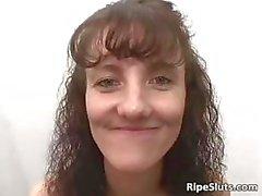 Horny brunette chick gets her wet cunt part3