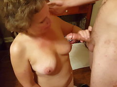 Shelly sucks young white cock