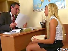 Old teacher gets his dick sucked off