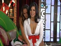 Celeste Star and Sunny Leone