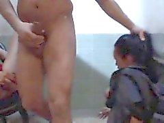 Mandy Bright and Regina Moon subjugating Omar Galanti their sex slave