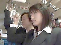 Hana Haruna Asian gets doggy fuck in bus