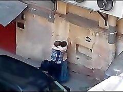 pareja amateur rechoncho ruso al aire libre