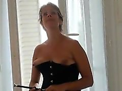 Intense gangbang with a good French mature