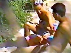 praia nudez em público voyeur