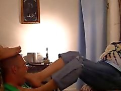 knick latein domina - fussjob footworship