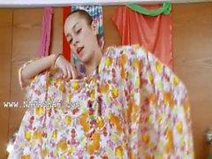skinny russian chick Natasna dildoing