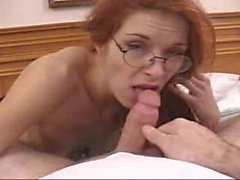 Flatchested, Yet Somehow Saggy Redhead Gives BJ