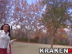 Krakenhot - Cute provocative schoolgirl at the park