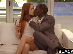 Ginger babe Kimberly Brix tries her first BBC interracial porn
