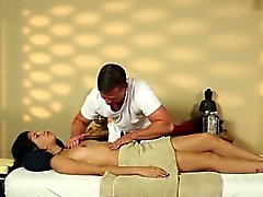 Very tricky massage room of pleasing masseur