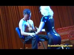 lapdance on public show stage