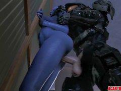 Big tits and ass Liara getting fucked hard