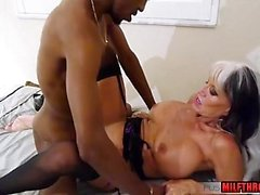Hot milf interracial and massage
