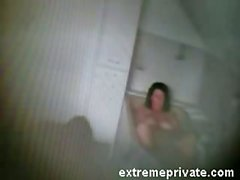My mom fingering in bath caught on spy cam