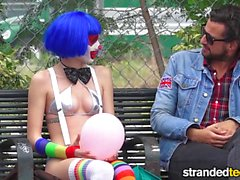 StrandedTeens Dirty clown gets into some funny business