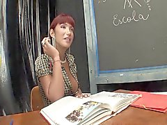 Tranny Teacher Fucks Her Student