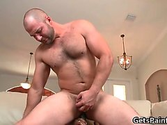 Hairy gay bear takes large black gay part6