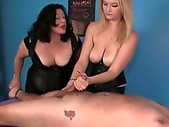 CBT masseuses Amber and Elaine dominating