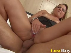 Bubble Butt Blonde Latina Takes A Hardcore Anal Fucking