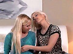 Lesbian Milf neighbours licking in bedroom