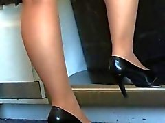 nylon shoeplay knick füße