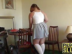 Chubby slut is ready to be dominated by her master fucker