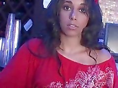 Latina pussy teased upskirt gives fellatio in return