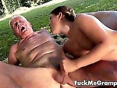 Teen blows teacher cock